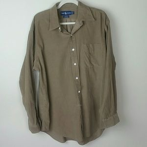 Ralph Lauren Black button down cotton shirt L